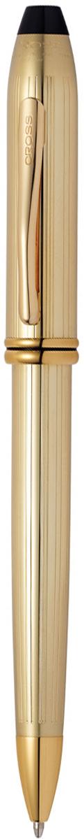 Cross Ручка шариковая Townsend цвет корпуса золотистый702TWАмериканская компания CROSS – один из старейших брендов среди производителей пишущих инструментов и деловых аксессуаров. Компания была основана в 1846 году ювелиром Ричардом Кроссом и изначально специализировалась на производстве роскошных ротом и серебром. На протяжении долгих лет пишущие инструек из драгоценных металлов и ювелирных корпусов для карандашей, тисненных золотом и серебром. На протяжении долгих лет пишущие инструменты CROSS остаются классическим выбором для подарка.Ручка CROSS — это оригинальный персонгальный подарок и неотъемлемый элемент вашего стиля.Это голос доверия,который создает долгосрочные отношения между людьми и обогащет смыслом драгоценные моменты.Каждая ручка CROSS имеет пожизненную механическую гарантию. Шариковая ручка Cross Townsend, Gold / АРТИКУЛ: 702TWКорпус: ювелирная латунь. Механизм: поворотного действия. Система заправки: заменяемые стержни Cross для шариковых ручек. Размеры ручки: длина -14.99 cм, максимальная ширина (диаметр) - 1.09 cм. Вес ручки: 43 гр. Отделка: глубокая гравировка в виде тонких продольных линий, 10 K покрытие золотом, отдельные элементы дизайна - позолота 23 K. Цвет: золотистый. Особенности: новый улучшенный дизайн аналогичной модели Cross Townsend выпускавшейся ранееиспользуются стандартные стержни для шариковых ручек Cross.возможно использование специального конвертора - механический карандаш (грифель 0,7 мм и ластик) в виде стандартного стержня Cross для шариковых ручек .Названная в честь основателя компании Алонзо Таунсенда Кросса, коллекция Cross Townsend - настоящий шедевр. В ней гармонично сочетаются ювелирное мастерство и самые передовые технологии. Это драгоценность в ваших руках. Отличительная черта коллекции - широкий диаметр корпуса пишущих инструментов и опоясывающие его двойные кольца.