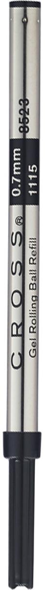 Cross Стержень для ручки-роллера стандартный средний цвет чернил черный8523 blackСтержень для ручки-роллера Cross обеспечивает четкие и яркие линии, не требует усилий при письме, чернила быстро высыхают. Толщина линии 0,7 мм.Подходит для ручек-роллеров Cross. Цвет чернил - черный.