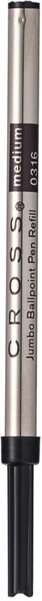 Cross Стержень шариковый Jumbo для роллера Selectip средний цвет чернил черный8562-1Стержень шариковый, повышенной емкости для ручек-роллеров Cross из всех коллекций. Цвет: черный. Длина: 110 мм.