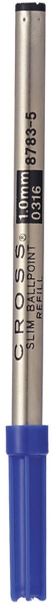 Cross Стержень шариковый Cross средний цвет чернил синий8783-5Американская компания CROSS – один из старейших брендов среди производителей пишущих инструментов и деловых аксессуаров. Компания была основана в 1846 году ювелиром Ричардом Кроссом и изначально специализировалась на производстве роскошных ротом и серебром. На протяжении долгих лет пишущие инструек из драгоценных металлов и ювелирных корпусов для карандашей, тисненных золотом и серебром. На протяжении долгих лет пишущие инструменты CROSS остаются классическим выбором для подарка.Ручка CROSS — это оригинальный персонгальный подарок и неотъемлемый элемент вашего стиля.Это голос доверия,который создает долгосрочные отношения между людьми и обогащет смыслом драгоценные моменты.Каждая ручка CROSS имеет пожизненную механическую гарантию.Стержень Cross предназначен для шариковых ручек с поворотным механизмом и создан американским производителем из качественных материалов. Тонкий металлический корпус надежно удерживает содержимое от протекания и испарения. Паста черного цвета имеет шелковистую структуру, не течет и не размазывается, а также не выцветает от солнечных лучей. Средней толщины пишущий узел выводит на бумаге четкую, без пропусков линию. Объема чернил хватает на длительное время, поэтому частой замены не потребуется. Стержень Кросс выпускается в блистерной упаковке. Толщина линии, мм: 0.7 Цвет чернил: черный