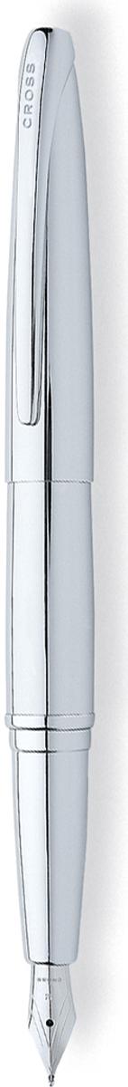 Cross Ручка перьевая ATX цвет корпуса серебристый тонкое перо -  Ручки