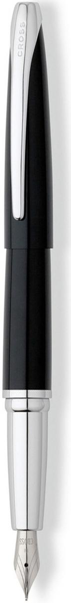 Cross Ручка перьевая ATX цвет корпуса глянцевый черный серебро среднее перо cross cross at0085 75
