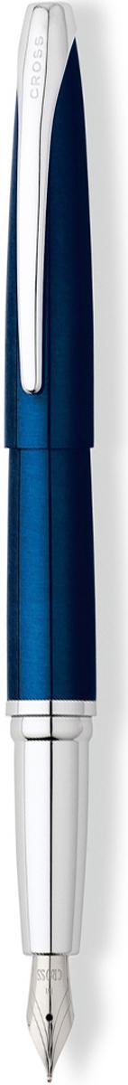 Cross Ручка перьевая ATX цвет корпуса синий тонкое перо886-37FSАмериканская компания CROSS – один из старейших брендов среди производителей пишущих инструментов и деловых аксессуаров. Компания была основана в 1846 году ювелиром Ричардом Кроссом и изначально специализировалась на производстве роскошных ручек из драгоценных металлов и ювелирных корпусов для карандашей, тисненных золотом и серебром. На протяжении долгих лет пишущие инструменты CROSS остаются классическим выбором для подарка.Ручка CROSS — это оригинальный персонгальный подарок и неотъемлемый элемент вашего стиля.Это голос доверия,который создает долгосрочные отношения между людьми и обогащет смыслом драгоценные моменты.Каждая ручка CROSS имеет пожизненную механическую гарантию.Ручка перьевая Cross ATX, Blue Lacquer CT (Перо F) / АРТИКУЛ: 886-37FSПеро: нержавеющая сталь. Отделка пера: оригинальная гравировка, хром. Корпус: ювелирная латунь. Механизм: съемный колпачок. Система заправки: картриджно-конвертерная. Отделка: современная отделка высокопрочным лаком насыщенного синего цвета, отдельные элементы дизайна - зеркальный хром. Размеры ручки: длина - 13,82 см, максимальная ширина (диаметр) -1,31 см. Цвет: лаковый синий / хром. Особенности:металлическая грип-секция. комплектуется поршневым конвертором. возможно использование чернильных картриджей Cross. Тип пишущего узла: перьевая ручка Толщина пишущего узла: f (тонкое) Производитель Cross Коллекция: ATX Механизм: съемный колпачок Цвет корпуса: синий, голубой Отделка элементов: серебряный цвет Толщина корпуса: стандартная Перо: нержавеющая сталь Новые пишущие инструменты из коллекции Cross ATX имеют обтекаемую форму и широкий клип эллиптической формы. Навеянные эстетикой XXI века плавные линии и современный дизайн, созданного по бесшовной технологии, корпуса придают этим ручкам неповторимый стиль. Это профессиональный выбор модных цветовых решений и стиля. Оригинальная лакированная отделка дополнена хромированными элементами с родиевым покрытием.Два самы