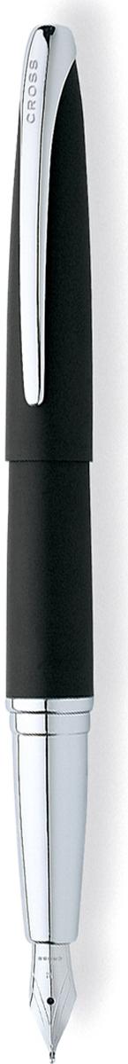 Cross Ручка перьевая ATX цвет корпуса матовый черный серебро тонкое перо886-3FSАмериканская компания CROSS – один из старейших брендов среди производителей пишущих инструментов и деловых аксессуаров. Компания была основана в 1846 году ювелиром Ричардом Кроссом и изначально специализировалась на производстве роскошных ручек из драгоценных металлов и ювелирных корпусов для карандашей, тисненных золотом и серебром. На протяжении долгих лет пишущие инструменты CROSS остаются классическим выбором для подарка.Ручка CROSS — это оригинальный персонгальный подарок и неотъемлемый элемент вашего стиля.Это голос доверия,который создает долгосрочные отношения между людьми и обогащет смыслом драгоценные моменты.Каждая ручка CROSS имеет пожизненную механическую гарантию.Перьевая ручка Cross ATX, Black Lacquer CT (перо F) / АРТИКУЛ: 886-36FS Модель 2012 года Перо: нержавеющая сталь. Отделка пера: оригинальная гравировка, хром. Корпус: ювелирная латунь. Механизм: съемный колпачек. Отделка: современная отделка высокопрочным черным лаком, отдельные элементы дизайна - зеркальный хром. Размеры ручки: длина -138,2 мм, максимальная ширина (диаметр) - 13,1 мм. Вес ручки: 27 гр. Цвет: лаковый черный / хром. Особенности: используются стандартные чернильные картриджи Cross, возможно использование специального поршневого конвертора Cross, приобретается отдельно. Механизм: съемный колпачок Цвет корпуса: Черный Отделка элементов: серебряный цвет Толщина корпуса: стандартная Перо: нержавеющая сталь Толщина пишущего узла: f (тонкое). Новые пишущие инструменты из коллекции Cross ATX имеют обтекаемую форму и широкий клип эллиптической формы. Навеянные эстетикой XXI века плавные линии и современный дизайн, созданного по бесшовной технологии, корпуса придают этим ручкам неповторимый стиль. Это профессиональный выбор модных цветовых решений и стиля. Оригинальная лакированная отделка дополнена хромированными элементами с родиевым покрытием.