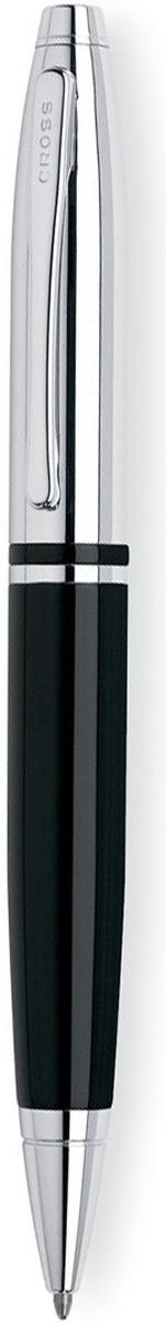 Cross Ручка шариковая Calais цвет корпуса черный серебристый шариковая ручка cross calais pure chrome mblack at0112 1