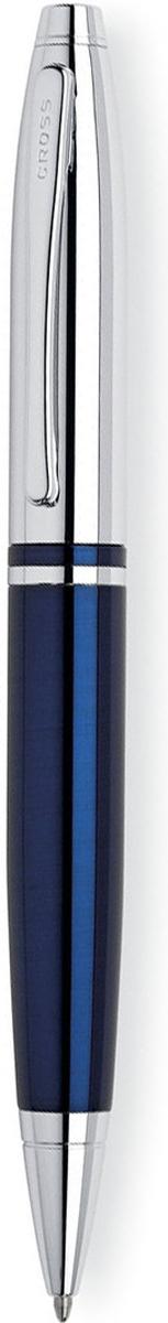 Cross Ручка шариковая Calais цвет корпуса синий серебристыйAT0112-3Американская компания CROSS – один из старейших брендов среди производителей пишущих инструментов и деловых аксессуаров. Компания была основана в 1846 году ювелиром Ричардом Кроссом и изначально специализировалась на производстве роскошных ротом и серебром. На протяжении долгих лет пишущие инструек из драгоценных металлов и ювелирных корпусов для карандашей, тисненных золотом и серебром. На протяжении долгих лет пишущие инструменты CROSS остаются классическим выбором для подарка.Ручка CROSS — это оригинальный персонгальный подарок и неотъемлемый элемент вашего стиля.Это голос доверия,который создает долгосрочные отношения между людьми и обогащет смыслом драгоценные моменты.Каждая ручка CROSS имеет пожизненную механическую гарантию. Шариковая ручка Cross Calais, Chrome / Blue Lacquer / АРТИКУЛ: AT0112-3Механизм: поворотного действия. Корпус: ювелирная латунь. Отделка: синий лак и зеркальный хром, отдельные элементы дизайна - зеркальный хром. Размеры ручки: длина - 13,7 см, максимальная ширина (диаметр) - 1,24 см. Вес ручки: 31 гр. Цвет: синий лак / хром. Особенности: используются стандартные стержни для шариковых ручек Cross, возможно использование специального конвертора - механический карандаш (грифель 0,7 мм и ластик) в виде стандартного стержня Cross для шариковых ручек.Cross Calais это: классический, округлый дизайн корпуса, яркие полупрозрачные цвета лаковой отделки, выполненных в стиле art deco. Основные цвета, используемые в корпоративной символике. Классический стиль и образ ручек, а так же доступный уровень цен делает эту коллекцию идеальным корпоративным подарком.Новая коллекция пишущих инструментов Cross Calais для утонченных натур. Модный и элегантный пишущий инструмент отлично сочетает в себе высокий стиль и доступность. Изысканное покрытие корпуса выгодно подчеркнуто блестящей хромированной отделкой. Характерный для всех продуктов Cross обтекаемый силуэт, непревзойденное качество письма