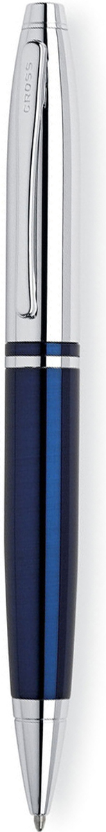 Cross Ручка шариковая Calais цвет корпуса синий серебристый шариковая ручка cross calais pure chrome mblack at0112 1