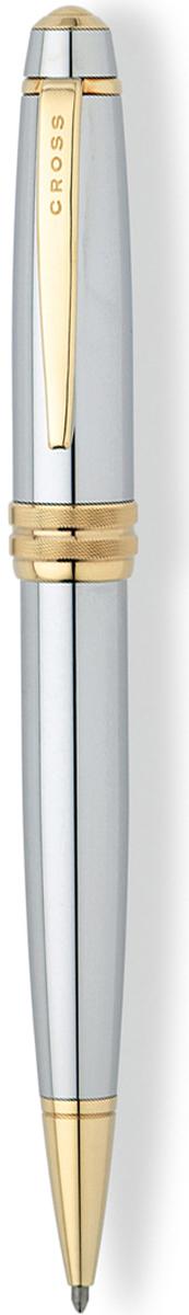 Cross Ручка шариковая Bailey черная цвет корпуса серебристый cross ручка роллер selectip beverly черная цвет корпуса фиолетовый