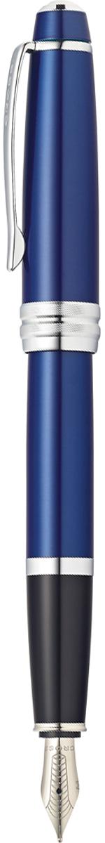 Американская компания CROSS – один из старейших брендов среди производителей пишущих инструментов и деловых аксессуаров. Компания была основана в 1846 году ювелиром Ричардом Кроссом и изначально специализировалась на производстве роскошных ручек из драгоценных металлов и ювелирных корпусов для карандашей, тисненных золотом и серебром. На протяжении долгих лет пишущие инструменты CROSS остаются классическим выбором для подарка.Ручка CROSS — это оригинальный персонгальный подарок и неотъемлемый элемент вашего стиля.Это голос доверия,который создает долгосрочные отношения между людьми и обогащет смыслом драгоценные моменты.Каждая ручка CROSS имеет пожизненную механическую гарантию.  Ручка перьевая Cross Bailey, Blue Lacquer CT (Перо M) / АРТИКУЛ: AT0456-12MS  Перо: нержавеющая сталь. Отделка пера: оригинальная гравировка. Корпус: ювелирная латунь. Механизм: съемный колпачок. Система заправки: картриджно-конвертерная. Отделка: многослойное покрытие высококачественным лаком изумительного синего цвета, оригинальное рифление на кольце колпачка, отдельные элементы дизайна - зеркальный хром. Размеры ручки: длина - 13,7 см, максимальная ширина (диаметр) -1,32 см. Цвет: лаковый синий / хром. Особенности:    поставляется в специальной подарочной упаковке.   использование чернильных картриджей Cross.   возможна комплектация поршневым конвертером для заправки чернилами из флакона (в комплект поставки не входит). Механизм: съемный колпачок Цвет корпуса: синий, голубой Отделка элементов: серебряный цвет Толщина корпуса: стандартная Перо:нержавеющая сталь Ассортимент ручек торговой марки Cross пополнился коллекцией Cross Bailey. Это серия классических ручек представительского стиля в средней ценовой категории. Строгий классический дизайн ручек Cross Bailey делает их универсальным рабочим инструментом, который подойдет и мужчинам, и женщинам. Ручки имеют гладкий обтекаемый металлический корпус с черным или красным лаковым покрытием, хромированной отделкой и рельефным центральным коль