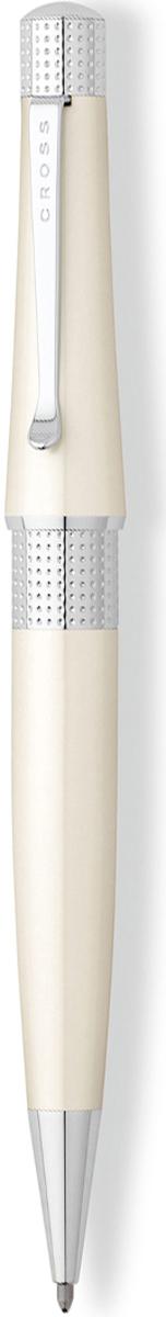 Cross Ручка шариковая Beverly цвет корпуса белыйAT0492-2Американская компания CROSS – один из старейших брендов среди производителей пишущих инструментов и деловых аксессуаров. Компания была основана в 1846 году ювелиром Ричардом Кроссом и изначально специализировалась на производстве роскошных ротом и серебром. На протяжении долгих лет пишущие инструек из драгоценных металлов и ювелирных корпусов для карандашей, тисненных золотом и серебром. На протяжении долгих лет пишущие инструменты CROSS остаются классическим выбором для подарка.Ручка CROSS — это оригинальный персонгальный подарок и неотъемлемый элемент вашего стиля.Это голос доверия,который создает долгосрочные отношения между людьми и обогащет смыслом драгоценные моменты.Каждая ручка CROSS имеет пожизненную механическую гарантию. Шариковая ручка Cross Beverly выполнена из ювелирной латуни и покрыта качественным белым лаком. Блестящая отделка напоминает о сиянии драгоценных камней. На конце корпуса - оригинальное рифление и фирменная гравировка. Не менее эффектная деталь - перфорированное кольцо в центре.Стержень заправлен черными чернилами, другие оттенки вы при желании можете приобрести дополнительно. Серия Кросс Беверли создана для ценителей дизайнерских вещей. Ручка из коллекции станет замечательным обрамлением стиля делового человека, а также подойдет творческим людям.Тип товара: Ручка шариковая Коллекция Cross: Beverly Толщина линии, мм: 0.7 Цвет чернил: черный Материал: латунь Цвет: белый Длина, см: 14.5 Упаковка: подарочная коробка Гарантия производителя: пожизненная