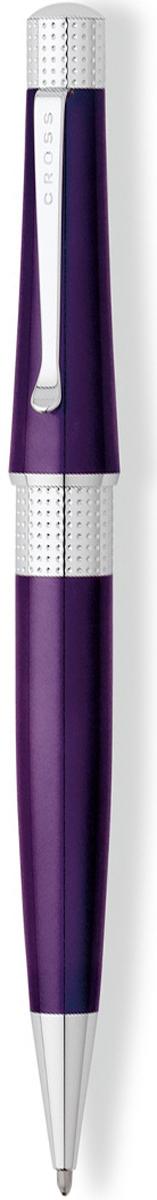 Cross Ручка шариковая Beverly черная цвет корпуса фиолетовый cross ручка роллер selectip beverly черная цвет корпуса фиолетовый