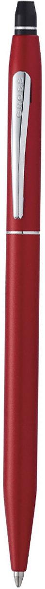 Cross Ручка шариковая Click с гелевым стержнем черного цвета цвет корпуса красныйAT0622S-119Американская компания CROSS – один из старейших брендов среди производителей пишущих инструментов и деловых аксессуаров. Компания была основана в 1846 году ювелиром Ричардом Кроссом и изначально специализировалась на производстве роскошных ротом и серебром. На протяжении долгих лет пишущие инструек из драгоценных металлов и ювелирных корпусов для карандашей, тисненных золотом и серебром. На протяжении долгих лет пишущие инструменты CROSS остаются классическим выбором для подарка.Ручка CROSS — это оригинальный персонгальный подарок и неотъемлемый элемент вашего стиля.Это голос доверия,который создает долгосрочные отношения между людьми и обогащет смыслом драгоценные моменты.Каждая ручка CROSS имеет пожизненную механическую гарантию. Cross Click - современная шариковая ручка, созданная подчеркнуть утонченный вкус и индивидуальность обладателя. Корпус изготовлен из первоклассной ювелирной латуни и покрыт несколькими слоями лака матового красного цвета. Элементы декора отделаны зеркальным хромом. Ручка оснащена практичным кнопочным, нажимным механизмом click, который будет надежно удерживать стержень при письме.Тонкий корпус и правильное распределение веса способствует легкой и комфортной эксплуатации без перенапряжения в руке. Для заправки применяются гелевые стержни Кросс для ручек-роллеров из коллекции Cross Spire. Быстросохнущие, качественные чернила подарят обладателю шариковой ручки совершенство выводимых на бумаге линий без разрывов и смазывания. В комплекте с Cross Click поставляется дополнительный стержень и гарантийный талон. Все составляющие упакованы в фирменную коробку.Коллекция Cross: Click Количество предметов в наборе: 2 Состав набора: ручка шариковаястержень гелевыйТолщина линии, мм: 0.7 Цвет чернил: черный Материал: латуньхромЦвет: красный Упаковка: подарочная коробка