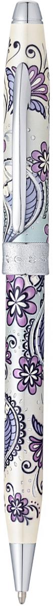 Cross Ручка шариковая Botanica Сиреневая орхидеяAT0642-2Шариковая ручка СROSS Botanica AT0642-2 - это чрезвычайно стильная коллекционная ручка. Неповторимый цветочный дизайн несомненно является классикой моды. Вдохновленная узорами из хны, раскрашенная в яркие цвета и украшенная металлическими деталями, шариковая ручка CROSS Botanica уже стала хитом продаж. Тонкий корпус из ювелирной латуни полностью покрыт зеркальным хромом, поэтому сверкает и переливается словно драгоценность. На поверхность нанесена изящная гравировка. Чтобы активировать стержень, необходимо воспользоваться поворотным механизмом и можно сразу приступать к записям. Также есть возможность установки конвертера, преобразующего ручку в механический карандаш. Подарочная упаковка входит в комплект и добавляет в образ презента солидность.