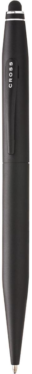 Cross Ручка шариковая Tech2 со стилусом черная цвет корпуса черный шариковая ручка cross calais pure chrome mblack at0112 1