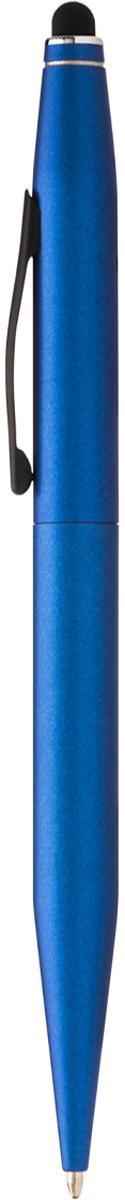 Cross Ручка шариковая Tech2 со стилусом черная цвет корпуса синий bic ручка шариковая kids twist цвет корпуса синий