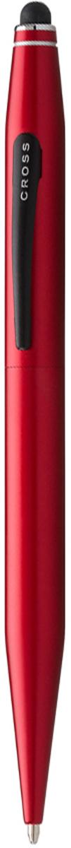 Cross Ручка шариковая Tech2 со стилусом черная цвет корпуса красный cross ручка роллер selectip beverly черная цвет корпуса фиолетовый
