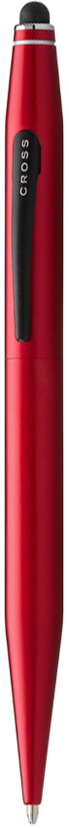 Cross Ручка шариковая Tech2 со стилусом черная цвет корпуса красный шариковая ручка cross calais pure chrome mblack at0112 1