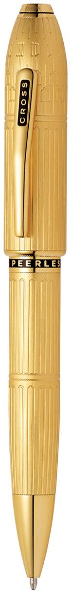 Cross Ручка шариковая Peerless Citizen LE London цвет корпуса золотистыйAT0702-7Американская компания CROSS – один из старейших брендов среди производителей пишущих инструментов и деловых аксессуаров. Компания была основана в 1846 году ювелиром Ричардом Кроссом и изначально специализировалась на производстве роскошных ротом и серебром. На протяжении долгих лет пишущие инструек из драгоценных металлов и ювелирных корпусов для карандашей, тисненных золотом и серебром. На протяжении долгих лет пишущие инструменты CROSS остаются классическим выбором для подарка.Ручка CROSS — это оригинальный персонгальный подарок и неотъемлемый элемент вашего стиля.Это голос доверия,который создает долгосрочные отношения между людьми и обогащет смыслом драгоценные моменты.Каждая ручка CROSS имеет пожизненную механическую гарантию. Шариковая ручка Cross Peerless 125 SE, London, Rolled Gold / АРТИКУЛ: AT0702-7Корпус: ювелирная латунь. Механизм: поворотного действия (Twist). Система заправки: заменяемые стандартные стержни Cross для шариковых ручек. Отделка: специальное покрытие золотом 18 Kt. (18 Kt. Rolled Gold Plated) с оригинальной алмазной гравировкой и отполированное вручную, специальная объемная гравировка PEERLESS 125 на барреле и CROSS на клипе колпачка с заполнением черным лаком, отдельные элементы дизайна - позолота 23 Kt., кристалл Сваровски в виде рубина на торце колпачка. Размеры ручки: длина - 146 мм, максимальная ширина (диаметр) - 13,2 мм. Вес ручки: 43 гр. Цвет: золотистый с гравировкой. Особенности: специальное издание отдает дань вечной элегантности Лондона.поставляется в специальной подарочной упаковке нового дизайна.оригинальная гравировка в виде традиционной архитектуры неоготики Лондона (Элизабет-Тауэр).кристалл Сваровски в виде рубина с огранкой под бриллиант в навершии колпачка (brilliant-faceted cut Ruby 501 Swarovski crystal).высоконадежный поворотный механизм с фиксацией стержня в выдвинутом положении.используются стандартные стержни Cross шариковых ручек.возмо