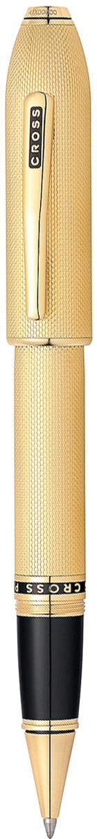 Cross Ручка-роллер Selectip Peerless 125 цвет корпуса золотистыйAT0705-4Американская компания CROSS – один из старейших брендов среди производителей пишущих инструментов и деловых аксессуаров. Компания была основана в 1846 году ювелиром Ричардом Кроссом и изначально специализировалась на производстве роскошных ротом и серебром. На протяжении долгих лет пишущие инструек из драгоценных металлов и ювелирных корпусов для карандашей, тисненных золотом и серебром. На протяжении долгих лет пишущие инструменты CROSS остаются классическим выбором для подарка.Ручка CROSS — это оригинальный персонгальный подарок и неотъемлемый элемент вашего стиля.Это голос доверия,который создает долгосрочные отношения между людьми и обогащет смыслом драгоценные моменты.Каждая ручка CROSS имеет пожизненную механическую гарантию. Ручка-роллер Cross Peerless 125, Heavy Gold Plate GT / АРТИКУЛ: AT0705-4Корпус: ювелирная латунь. Механизм: съемный завинчивающийся колпачок. Система заправки: заменяемые стандартные стержни Cross для ручек-роллеров. Отделка: специальное покрытие 23 Kt. золотом (23 Kt. Heavy Gold Plated)с оригинальной алмазной гравировкой в виде продольных линий и тщательно отполированное вручную, специальная объемная гравировка PEERLESS 125 на барреле и CROSS на клипе колпачка с заполнением черным лаком, отдельные элементы дизайна - позолота 23 Kt. Размеры ручки: длина - 156 мм, максимальная ширина (диаметр) -13,2 мм. Вес ручки: 51 гр. Инкрустация: черный кристалл Swarovski на торце. Цвет: золотой. Особенности: поставляется в специальной подарочной упаковке.используются стандартные стержни для ручек-роллеров Cross.возможно использовать специальный шариковый стержень с увеличенным объемом Jumbo.завинчивающийся колпачок.персонализация гравировкой невозможна. Выпуск новой коллекции Cross Peerless 125 посвящен 125-летнему юбилею со дня выпуска компанией Cross первой перьевой ручки: В честь знаменитого наследия брэнда CROSS, символ статуса, из качественных материалов и отделкой.Символ ста