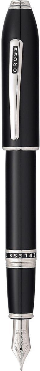 Cross Ручка перьевая Peerless 125 цвет корпуса черный платина перо золото 18К родийAT0706-1FYАмериканская компания CROSS – один из старейших брендов среди производителей пишущих инструментов и деловых аксессуаров. Компания была основана в 1846 году ювелиром Ричардом Кроссом и изначально специализировалась на производстве роскошных ручек из драгоценных металлов и ювелирных корпусов для карандашей, тисненных золотом и серебром. На протяжении долгих лет пишущие инструменты CROSS остаются классическим выбором для подарка.Ручка CROSS — это оригинальный персонгальный подарок и неотъемлемый элемент вашего стиля.Это голос доверия,который создает долгосрочные отношения между людьми и обогащет смыслом драгоценные моменты.Каждая ручка CROSS имеет пожизненную механическую гарантию.Ручка перьевая Cross Peerless 125, Obsidian Black Lacquer RT (Перо F) / АРТИКУЛ: AT0706-1FY Перо: золото 18 Kt. (750 проба). Отделка пера: родиевое покрытие, оригинальная гравировка с юбилейной символикой 125. Корпус: ювелирная латунь. Механизм: съемный завинчивающийся колпачок. Система заправки: картриджно-конвертерная. Отделка: специальное покрытие высококачественным лаком радикально черного цвета тщательно отполированное вручную, специальная объемная гравировка PEERLESS 125 на барреле и CROSS на клипе колпачка с заполнением черным лаком, отдельные элементы дизайна - родий. Размеры ручки: длина - 156 мм, максимальная ширина (диаметр) -13,2 мм. Вес ручки: 43 гр. Инкрустация: черный кристалл Swarovski на торце. Цвет: лаковый черный. Особенности:поставляется в специальной подарочной упаковке. комплектуется поршневым конвертором для заправки чернилами из флакона. возможно использование чернильных картриджей Cross. завинчивающийся колпачок. возможна персонализация гравировкой. Выпуск новой коллекции Cross Peerless 125 посвящен 125-летнему юбилею со дня выпуска компанией Cross первой перьевой ручки:В честь знаменитого наследия брэнда CROSS, символ статуса, из качественных материалов и отделкой. Символ ста