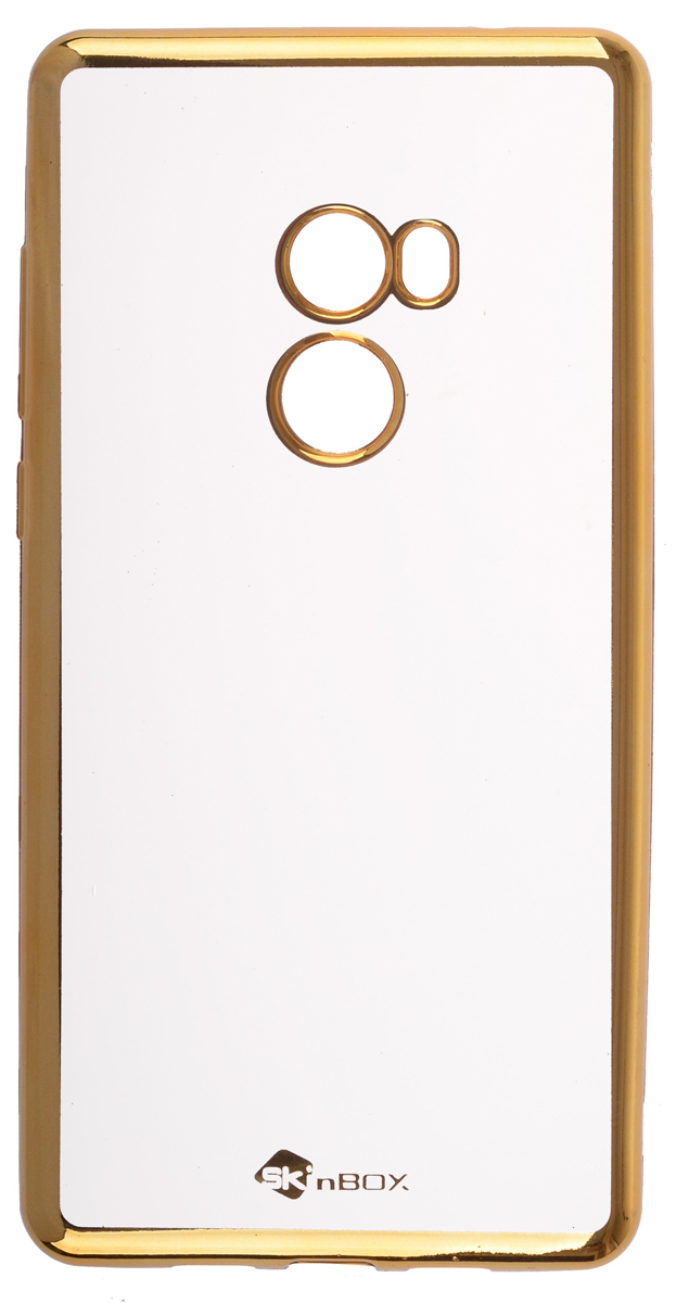 Skinbox Silicone Chrome Border 4People чехол для Xiaomi  Mix 2, Gold