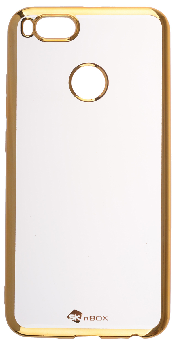 Skinbox Silicone Chrome Border 4People чехол для Xiaomi Mi 5X/A1, Gold2000000155753Накладка skinBOX silicone chrome border 4People для Xiaomi Mi 5X/A1