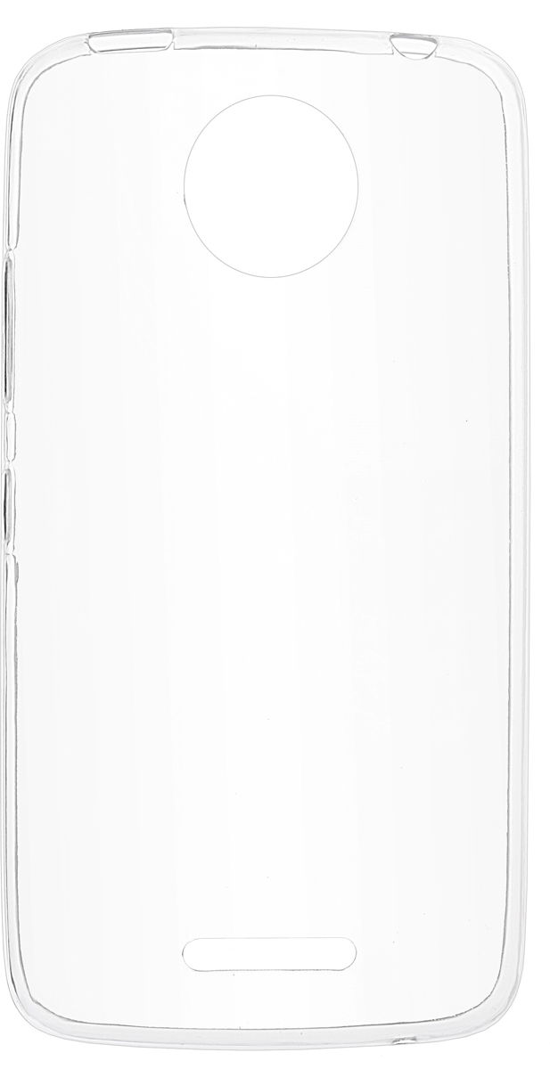 Skinbox Slim Silicone Case 4People чехол для Moto C Plus, Transparent