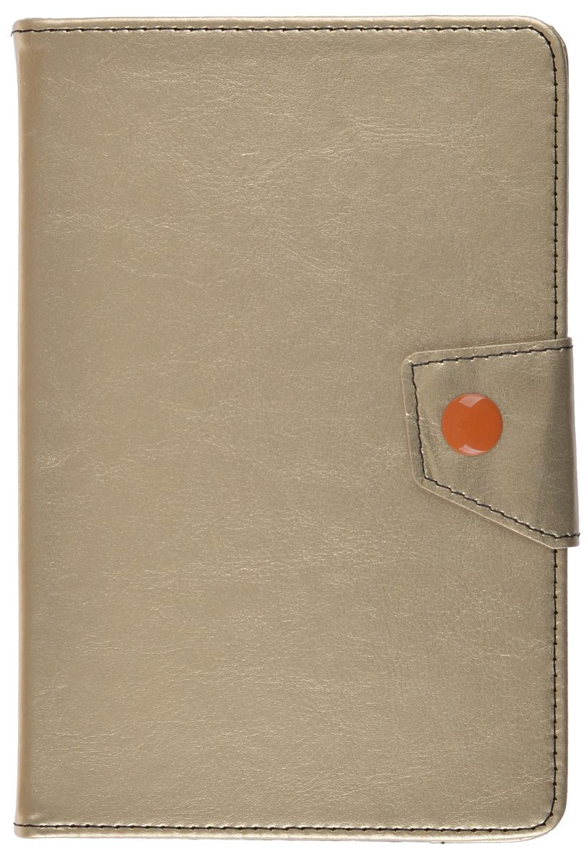 ProShield Universal Slim универсальный чехол для планшетов 8, Gold2000000157580Универсальный чехол-книжка с клипсой для планшетов 8