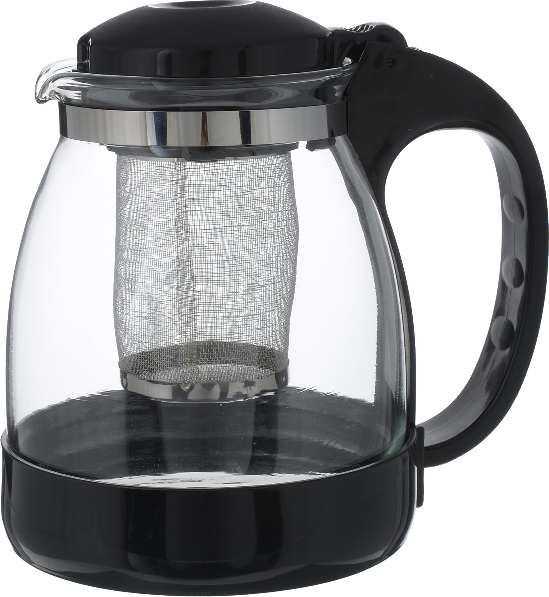 Чайник заварочный Irit, цвет: черный, 1 л cms 26 1 заварочный чайник гибискус pavone