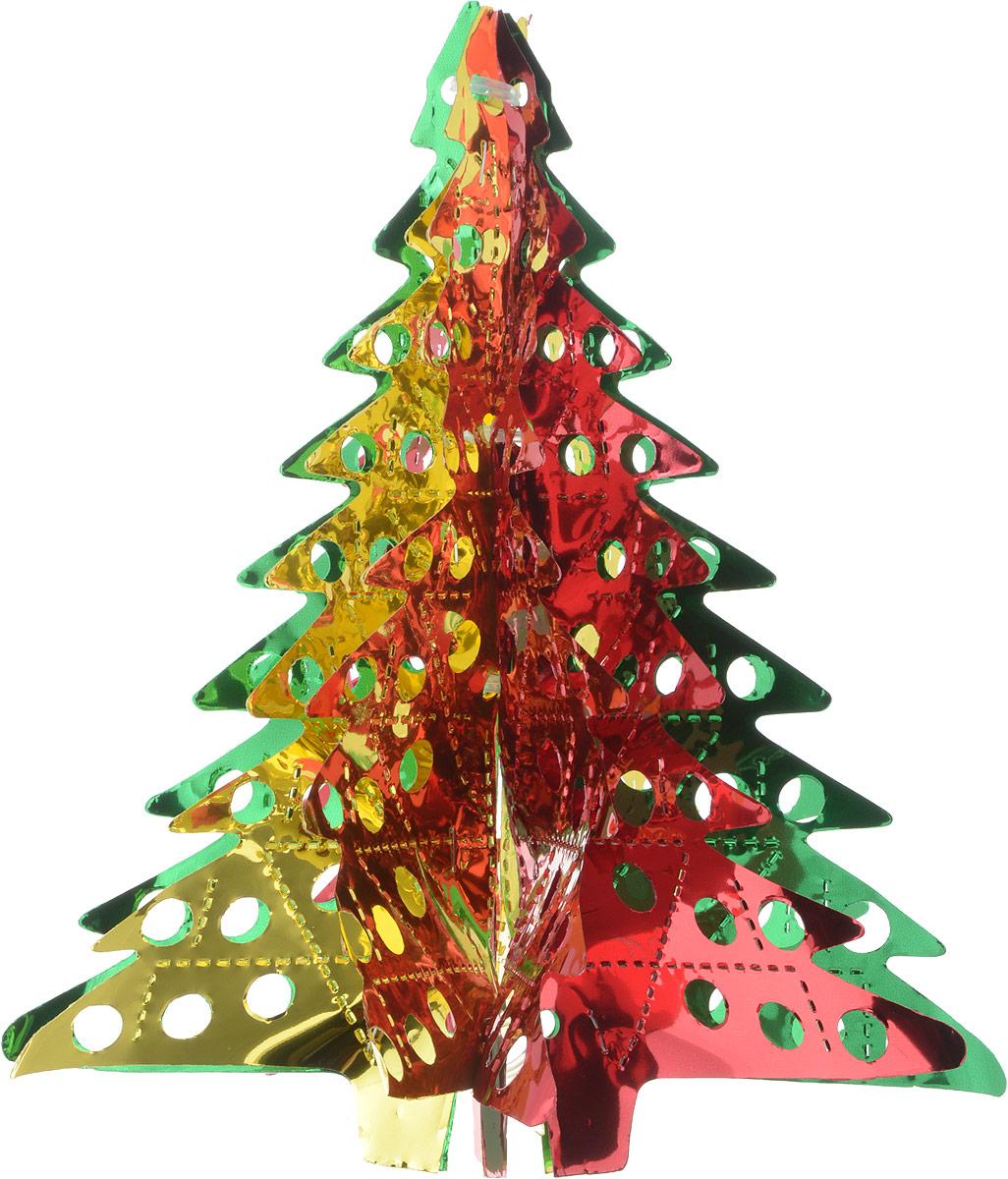 Новогоднее подвесное украшение Winter Wings Елочка, цвет: зеленый, красный, высота 26 смN09185_зеленый, красныйНовогоднее украшение Winter Wings Елочка прекрасно подойдет для декора дома и праздничной елки. Изделие выполнено из ПВХ. С помощью специальной петельки украшение можно повесить в любом понравившемся вам месте. Легко складывается и раскладывается. Новогодние украшения несут в себе волшебство и красоту праздника. Они помогут вам украсить дом к предстоящим праздникам и оживить интерьер по вашему вкусу. Создайте в доме атмосферу тепла, веселья и радости, украшая его всей семьей. Диаметр украшения: 20,5 см. Высота украшения: 26 см.
