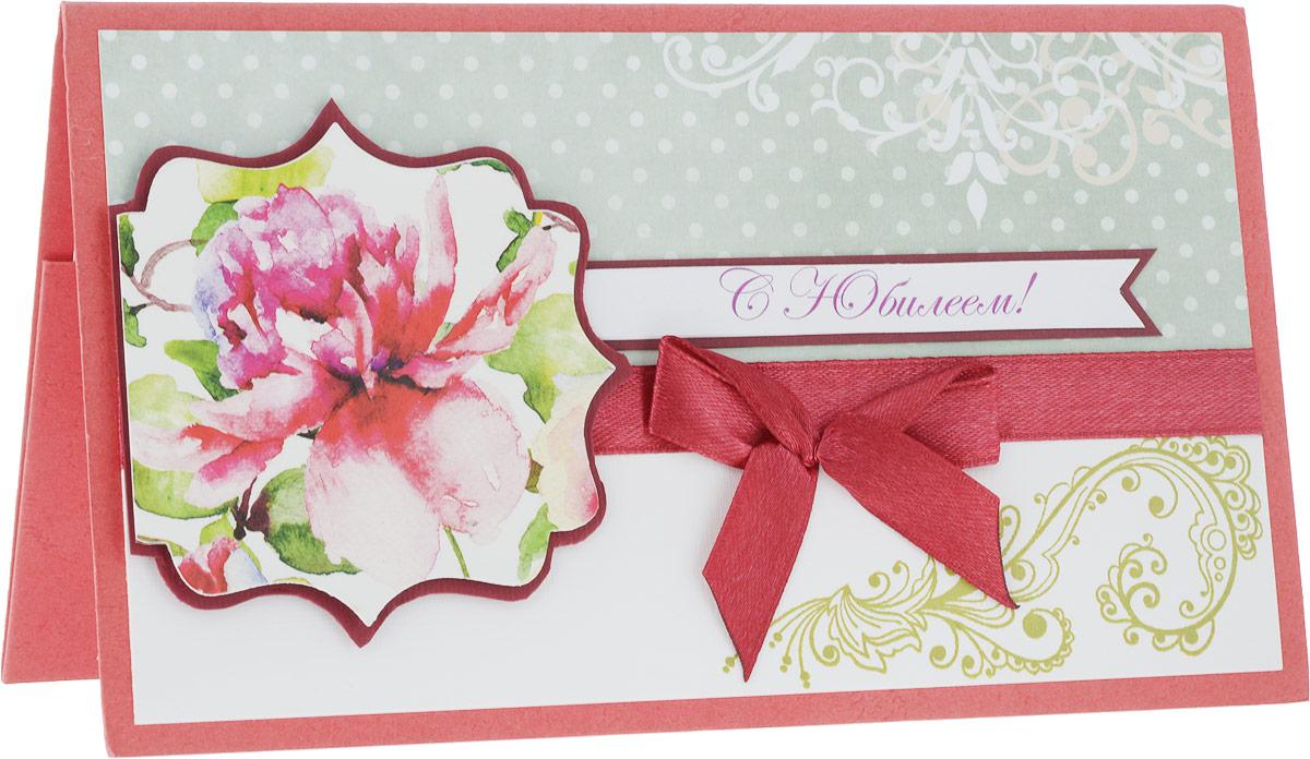 Конверт-открытка Студия Тетя Роза C Юбилеем!, цвет: красный, зеленый143016167_красный, зеленыйДанная открытка может стать как прекрасным дополнением к вашему подарку, так и самостоятельным подарком. Открытка является и конвертом, в который вы можете вложить ваш денежный подарок или просто написать ваши пожелания на вкладыше.