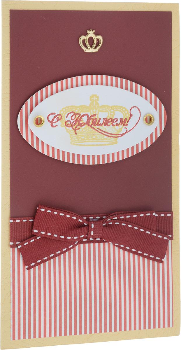 Конверт-открытка Студия Тетя Роза C Юбилеем!, цвет: бордовый, белый143016168_бордовый, белыйДанная открытка может стать как прекрасным дополнением к вашему подарку, так и самостоятельным подарком. Открытка является и конвертом, в который вы можете вложить ваш денежный подарок или просто написать ваши пожелания на вкладыше.