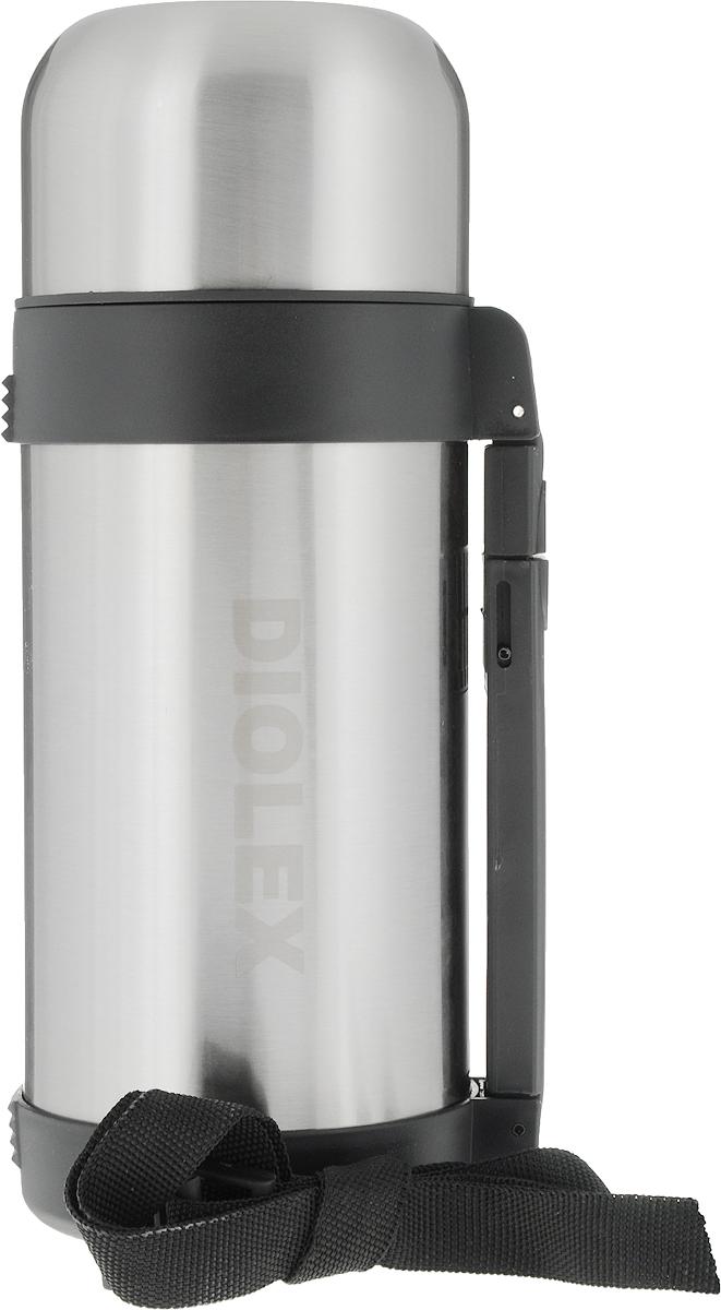 Термос Diolex, универсальный, 1,2 лDXH-1200-1Термос из нержавеющей стали Diolex DXH-1200-1 примечателен не только своей доступной ценой. Эта модель подходит для различных видов жидкостей. Конструкция колбы позволяет наливать даже супы. Благодаря этому у вас под рукой всегда будет горячее первое блюдо или напиток. В течение 12 часов содержимое не остынет. А холодные жидкости будут сохранять свою температуру на протяжении суток. Брать термос с собой очень удобно: он оснащен удобной откидной ручкой и ремешком для переноски. Крышка изделия одновременно служит чашкой. Пробка снабжена специальной кнопкой. Это делает конструкцию более герметичной и, следовательно, предотвращает протечки. Емкость термоса Diolex DXH-1200-1 – 1.2 л, поэтому вы сможете подкрепляться в течение всего рабочего дня или похода.
