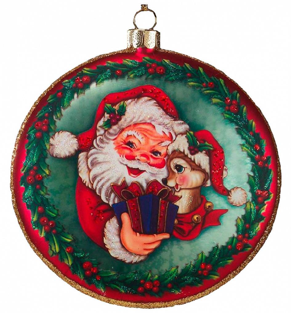 Красивый стеклянный медальон отражает классический рождественский сюжет. Новогодние украшения всегда несут в себе волшебство и красоту праздника. Создайте в своем доме атмосферу тепла, веселья и радости, украшая его всей семьей.