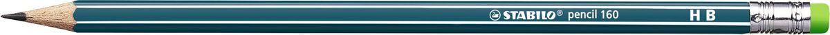 STABILO Карандаш чернографитный Pencil 160 цвет корпуса синий2160/HBНеломающиеся грифели — гарантированное высокое качество STABILO. Узнаваемый дизайн с белыми продольными полосами. Шестигранный классический корпус. Лакированная поверхность, благодаря которой карандаш приятно держать в руке. Цветной ластик, отличный от цвета корпуса.Твердость HB.