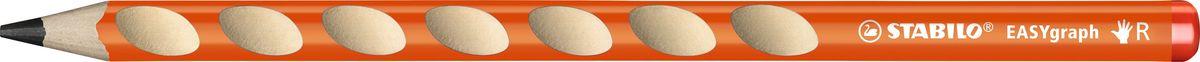 STABILO Карандаш чернографитный EASYgraph для правшей цвет корпуса оранжевый -  Карандаши
