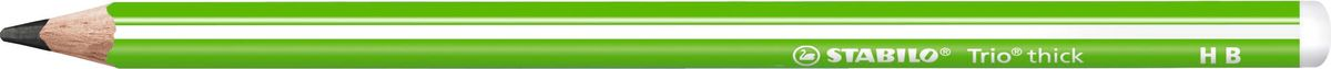 STABILO Карандаш чернографитный Trio 399 цвет корпуса зеленый399/04-HBУтолщенный трехгранный корпус особенно удобен при использовании. Утолщенный грифель диаметром 3,15мм обладает повышенной стойкостью к поломкам и отличается особой яркостью. 5 ярких цветов корпуса с белыми продольными полосами. Запаянный верх – безопасно для ребенка. Твердость HB.