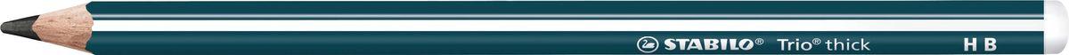 STABILO Карандаш чернографитный Trio 399 цвет корпуса темно-синий399/HBКарандаш чернографитный выполнен из качественного материала. Утолщенныйтрехгранный корпус особенно удобен при использовании. Утолщенныйгрифель диаметром 3,15 мм обладает повышенной стойкостью к поломкам иотличается особой яркостью. Запаянный верх для безопасности ребенка.