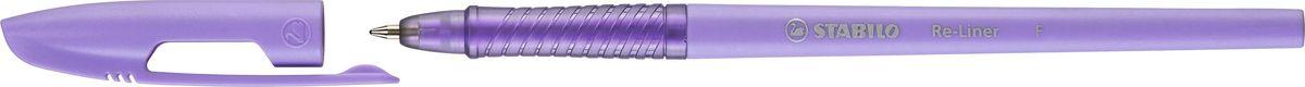 STABILO Ручка шариковая Re-liner 868 F фиолетовая868/1-55STABILO Re-liner 868 Стильная тонкая шариковая ручка со сменным стержнем, с рифленой областью обхвата. Ультрамодный колпачок с надежным клипом. Специальная формула чернил пониженной вязкости Low Viscosity позволяет еще быстрее и легче записать текст, избежать прерывания потока чернил и не уставать во время письма. Цвет корпуса соответствует цвету чернил. Толщина линии F 0,38 мм.