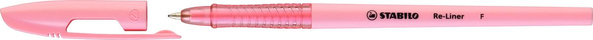 Stabilo Ручка шариковая Re-liner 868 F цвет чернил розовый868/1-56Стильная тонкая шариковая ручка со сменным стержнем, с рифленой областьюобхвата. Ультрамодный колпачок с надежным клипом. Специальнаяформула чернил пониженной вязкости Low Viscosity позволяет еще быстрее илегче записать текст, избежать прерывания потока чернил и не уставать во времяписьма. Цвет корпуса соответствует цвету чернил.