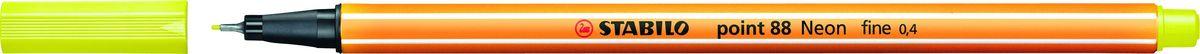 STABILO Ручка капилярная Point 88 неоновая желтая88/024STABILO Point 88Капиллярная ручка идеально подходит для особо легкого и мягкого письма, рисования и черчения. Металлическое обжатие наконечника дает возможность работать с линейками и трафаретами. Высокое качество износостойкого пишущего наконечника и большой запас чернил значительно увеличивают срок службы ручки. Ручка долгое время сохраняет работоспособность без колпачка. Чернила на водной основе. Цвет колпачка соответствует цвету чернил. Толщина линии 0,4 мм. 10 шт. в упаковке.