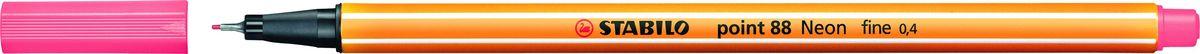 STABILO Ручка капилярная Point 88 неоновая красная88/040STABILO Point 88Капиллярная ручка идеально подходит для особо легкого и мягкого письма, рисования и черчения. Металлическое обжатие наконечника дает возможность работать с линейками и трафаретами. Высокое качество износостойкого пишущего наконечника и большой запас чернил значительно увеличивают срок службы ручки. Ручка долгое время сохраняет работоспособность без колпачка. Чернила на водной основе. Цвет колпачка соответствует цвету чернил. Толщина линии 0,4 мм. 10 шт. в упаковке.