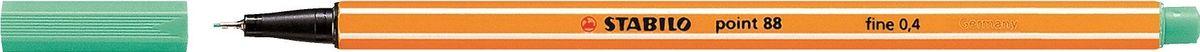 STABILO Ручка капилярная Point 88 зеленый лед88/13STABILO Point 88Капиллярная ручка идеально подходит для особо легкого и мягкого письма, рисования и черчения. Металлическое обжатие наконечника дает возможность работать с линейками и трафаретами. Высокое качество износостойкого пишущего наконечника и большой запас чернил значительно увеличивают срок службы ручки. Ручка долгое время сохраняет работоспособность без колпачка. Чернила на водной основе. Цвет колпачка соответствует цвету чернил. Толщина линии 0,4 мм. 10 шт. в упаковке.