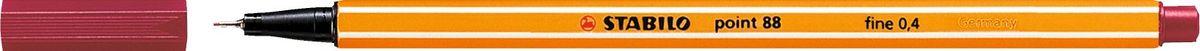 STABILO Ручка капилярная Point 88 темно-красная88/50STABILO Point 88 Капиллярная ручка идеально подходит для особо легкого и мягкого письма, рисования и черчения. Металлическое обжатие наконечника дает возможность работать с линейками и трафаретами. Высокое качество износостойкого пишущего наконечника и большой запас чернил значительно увеличивают срок службы ручки. Ручка долгое время сохраняет работоспособность без колпачка. Чернила на водной основе. Цвет колпачка соответствует цвету чернил. Толщина линии 0,4 мм. 10 шт. в упаковке.