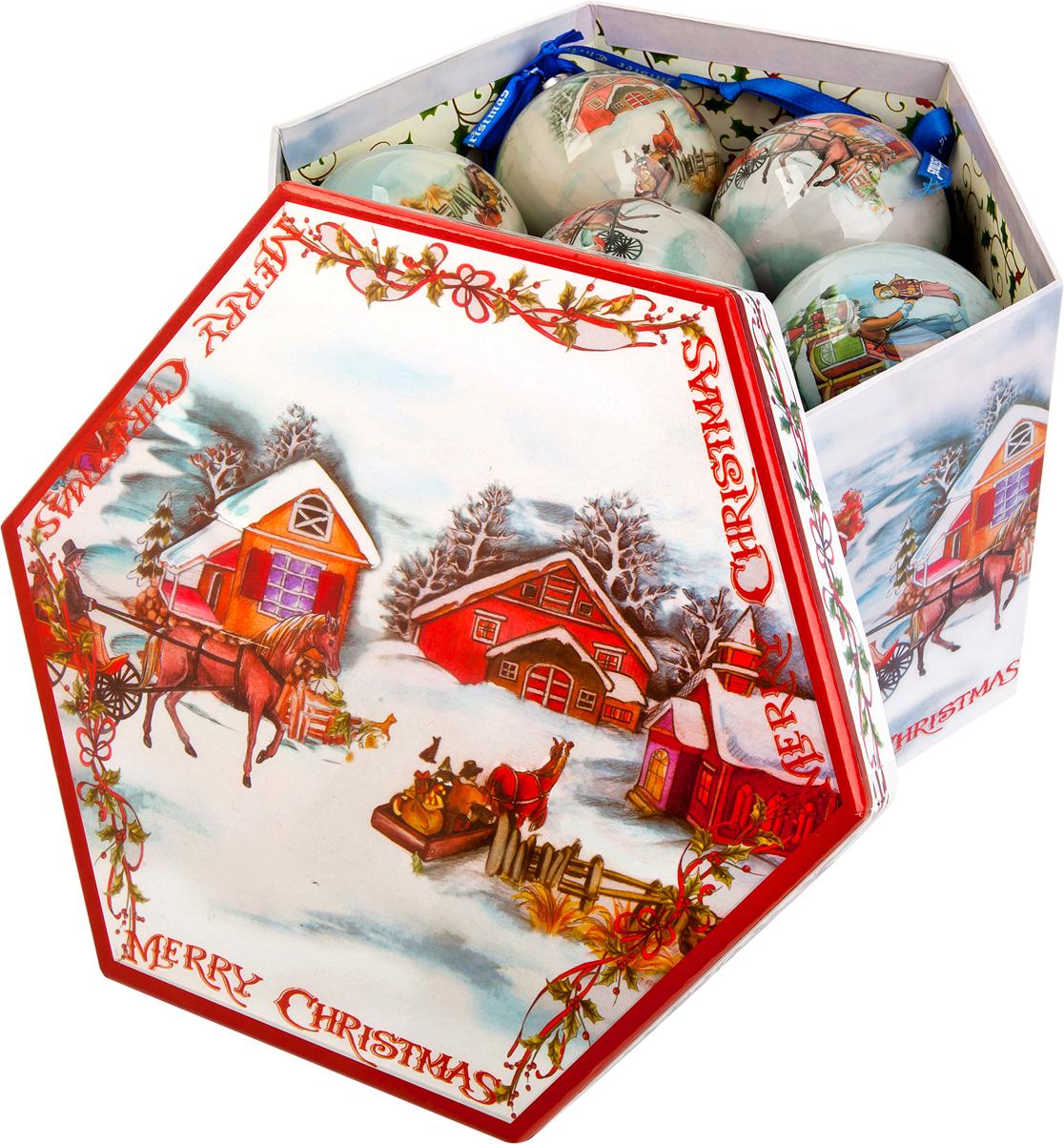 Набор новогодних подвесных украшений Mister Christmas Папье-маше, диаметр 7,5 см, 14 шт. PM-13-14PM-13-14