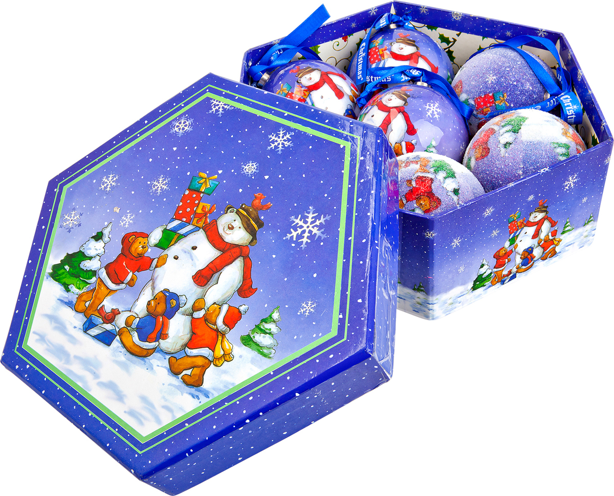 Набор новогодних подвесных украшений Mister Christmas Папье-маше, диаметр 7,5 см, 7 шт. PM-14-7PM-14-7