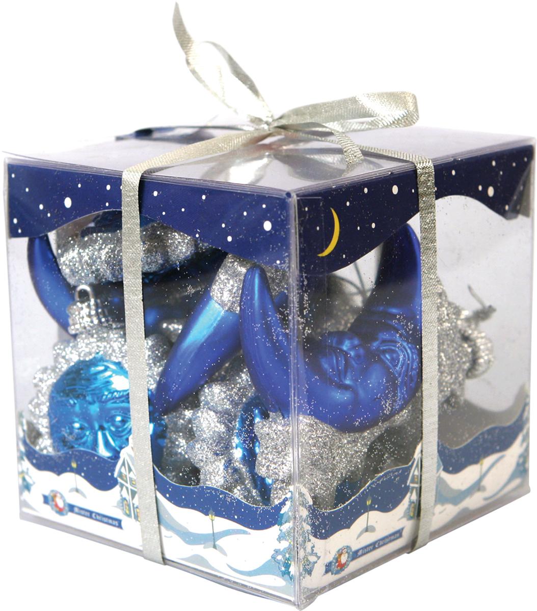 Набор новогодних украшений Mister Christmas День и ночь, цвет: синий, диаметр 6 см, 10 штB 60-SUMO-201Набор новогодних подвесных украшений Mister Christmas День и ночь отлично подойдет для декорации вашего дома и новогодней ели. С помощью специальной петельки украшение можно повесить в любом понравившемся вам месте. Но, конечно, удачнее всего оно будет смотреться на праздничной елке. Елочная игрушка - символ Нового года. Она несет в себе волшебство и красоту праздника. Создайте в своем доме атмосферу веселья и радости, украшая новогоднюю елку нарядными игрушками, которые будут из года в год накапливать теплоту воспоминаний.