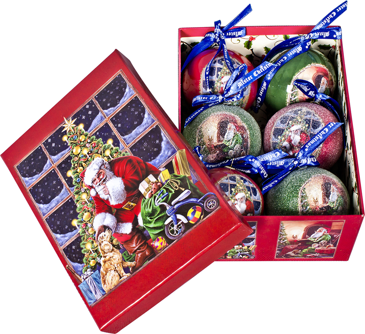 Набор новогодних подвесных украшений Mister Christmas Папье-маше, диаметр 7,5 см, 6 шт. PM-47-6 mister miracle