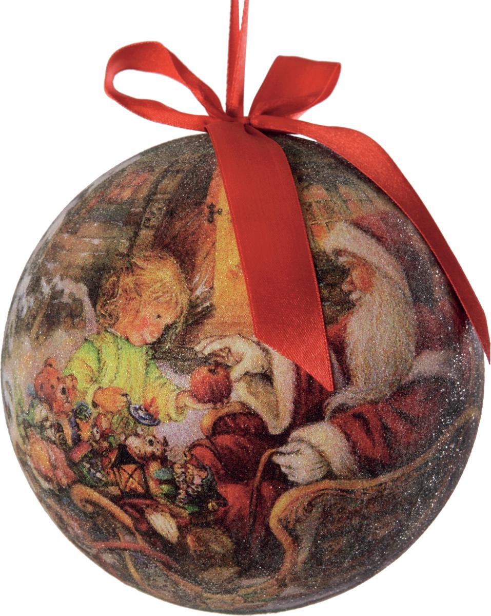Шар новогодний Mister Christmas Папье-маше, диаметр 11 см, 1 шт. PM-20-110CPM-20-110C