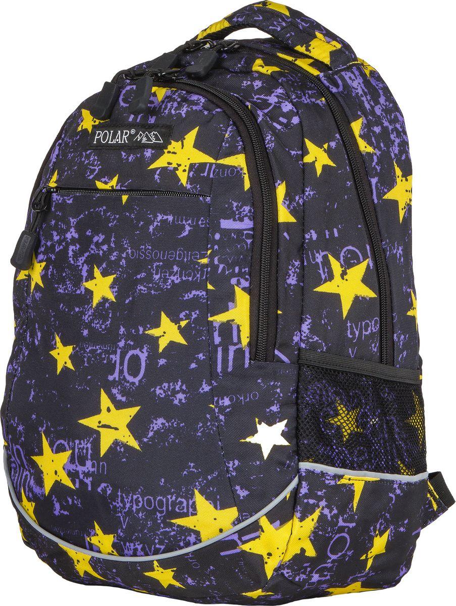 Рюкзак молодежный Polar, цвет: фиолетовый, 22 л. 1730217302Городской подростковый рюкзак Polar с модным дизайном подойдет для ежедневного использования. Рюкзак выполнен из полиэстера. Он имеет одно основное отделение, передний карман с кармашками для канцелярии и 2 боковых сетчатых кармана. Рюкзак оснащен ортопедической спинкой, ручкой для переноски и регулируемыми лямками.